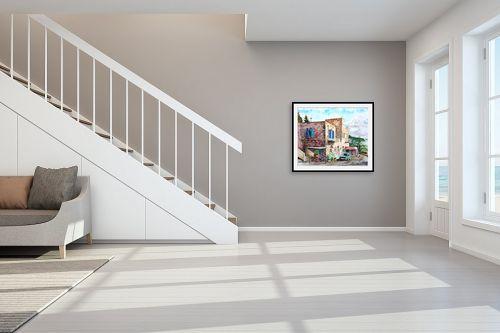 תמונה לחדר מדרגות - חיה וייט - המכולת בעין כרם - מק''ט: 326120