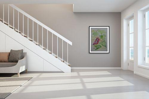 תמונה לחדר מדרגות - רינה יניב - אשכול ענבים - מק''ט: 327827