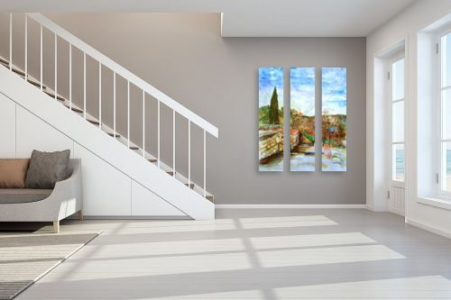 תמונה לחדר מדרגות - חיה וייט - מדרגות עין כרם ב׳ - מק''ט: 327892