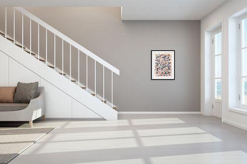 תמונה לחדר מדרגות - חיים מחט - קומפוזיציה צבעונית - מק''ט: 328304