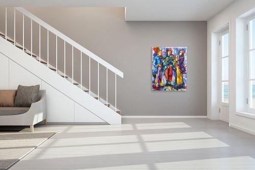 תמונה לחדר מדרגות - בן רוטמן - שלושת המוקיונים - מק''ט: 328540