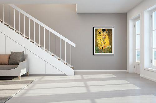 תמונה לחדר מדרגות - גוסטב קלימט - הנשיקה The kiss - מק''ט: 329107