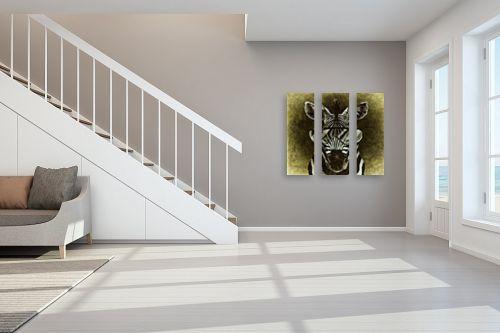 תמונה לחדר מדרגות - Artpicked - זברה ממושקפת - מק''ט: 329702