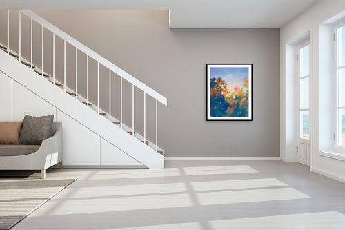 תמונה לחדר מדרגות - גורדון - בוקר כחול - מק''ט: 329780