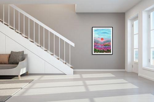 תמונה לחדר מדרגות - אורית גפני - שקיעה בעמק - מק''ט: 330013