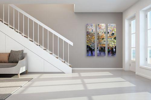 תמונה לחדר מדרגות - שמואל מושניק - תפילה בכותל - מק''ט: 330973