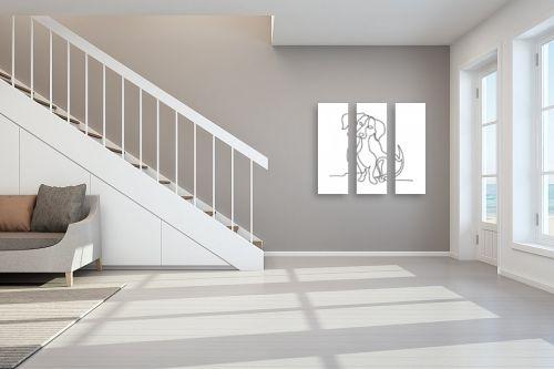 תמונה לחדר מדרגות - Artpicked - כלבלב בקו - מק''ט: 331106