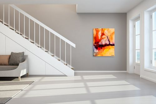 תמונה לחדר מדרגות - בן רוטמן - גזע עץ בערבה - מק''ט: 331271