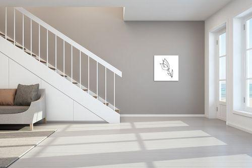 תמונה לחדר מדרגות - Artpicked - טוליפ בקו אחד - מק''ט: 331768