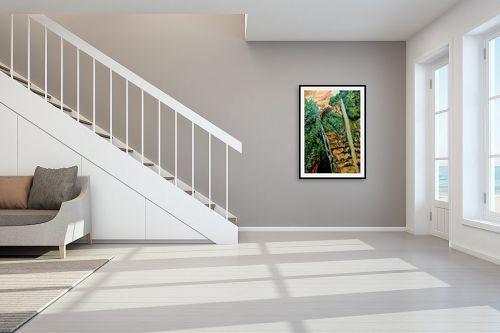 תמונה לחדר מדרגות - שמואל מושניק - מפל מים בנחל דוד, עין גדי - מק''ט: 332074