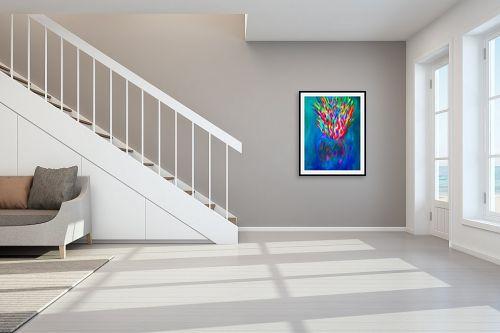 תמונה לחדר מדרגות - אורית גפני - מפץ צבעוני - מק''ט: 332424