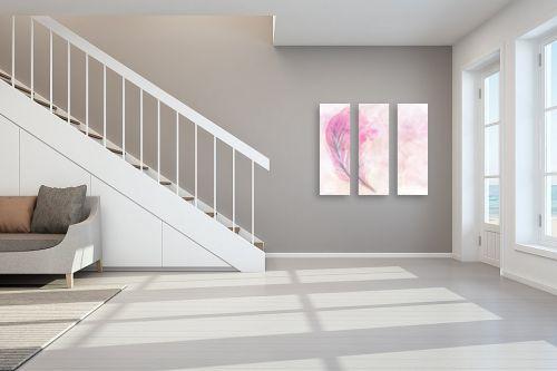 תמונה לחדר מדרגות - Artpicked - נוצה ורודה - מק''ט: 332540