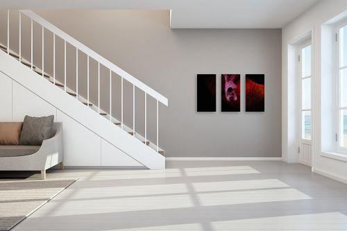 תמונה לחדר מדרגות - מירית אלון הלוי - באדום - מק''ט: 333435