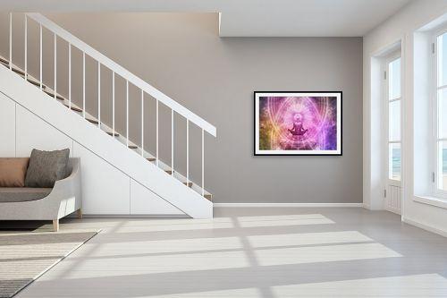 תמונה לחדר מדרגות - Artpicked - מדיטציה - מק''ט: 334176