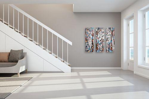 תמונה לחדר מדרגות - Artpicked - יער מפוקסל - מק''ט: 336267