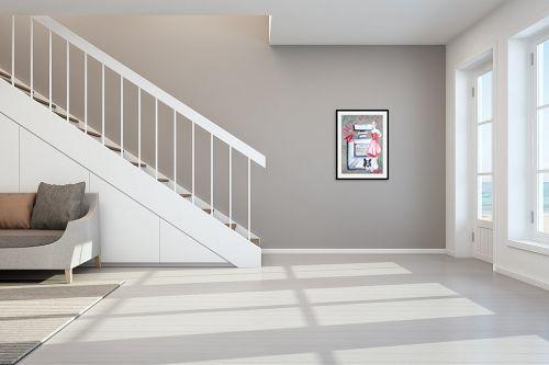 תמונה לחדר מדרגות - Artpicked - בושם - מק''ט: 338177