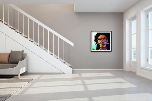 תמונה לחדר מדרגות - חנן אביסף - הדוגמנית ברוק - מק''ט: 52685