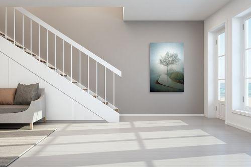 תמונה לחדר מדרגות - מיכל פרטיג - שקט ערפילי - מק''ט: 54601