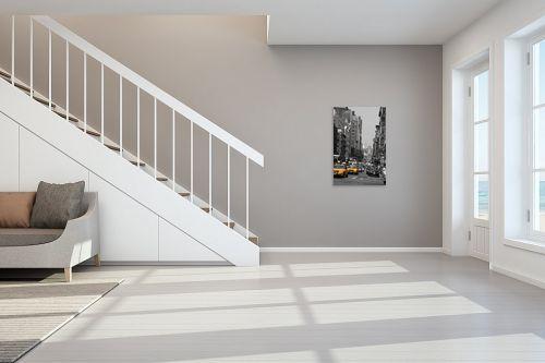 תמונה לחדר מדרגות - אלי נגר - שחור לבן צהוב - מק''ט: 56223