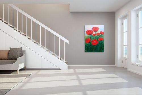 תמונה לחדר מדרגות - רינה יניב - כלניות ופרגים - מק''ט: 80195