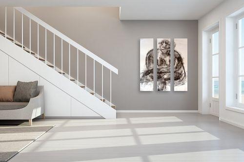 תמונה לחדר מדרגות - עוד קרייטר - עירום עגלגל- רישום פחם - מק''ט: 85711