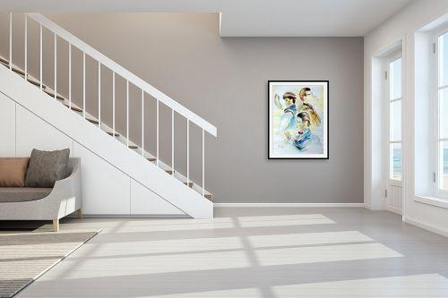 תמונה לחדר מדרגות - דוד סלע - זמן - מק''ט: 96853