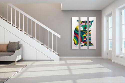 תמונה לחדר מדרגות - דוד סלע - נמר נייר - מק''ט: 99860