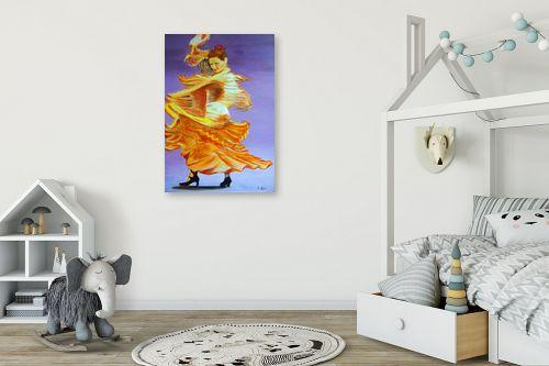 תמונה לחדר ילדים - אסתר חן-ברזילי - רקדנית פלמנקו - מק''ט: 106969