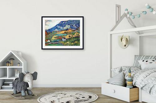 תמונה לחדר ילדים - וינסנט ואן גוך - Les Alpilles אלפיל - מק''ט: 115390