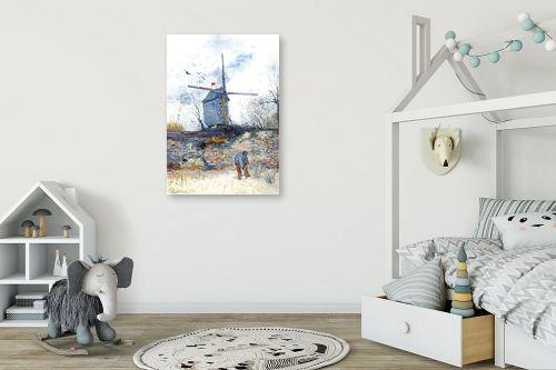 תמונה לחדר ילדים - וינסנט ואן גוך - the mill de la galette - מק''ט: 115569