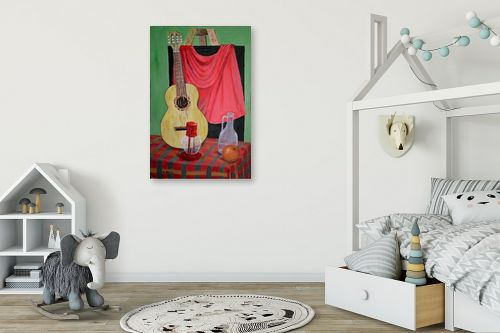 תמונה לחדר ילדים - אסתר חן-ברזילי - גיטרה ספרדית - מק''ט: 120063