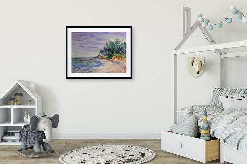 תמונה לחדר ילדים - נטליה ברברניק - ביתי כחול - מק''ט: 123333