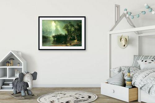תמונה לחדר ילדים - אלברט בירשטאדט - Albert Bierstadt 041 - מק''ט: 124643
