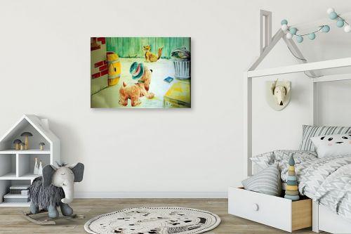תמונה לחדר ילדים - דוד סלע - ציור קיר - מק''ט: 140730