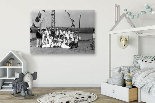 תמונה לחדר ילדים - דוד לסלו סקלי - תל אביב 1939 תמונת מחזור - מק''ט: 143383