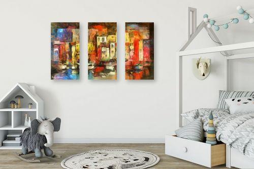 תמונה לחדר ילדים - בן רוטמן - עיר צבעונית - מק''ט: 144990