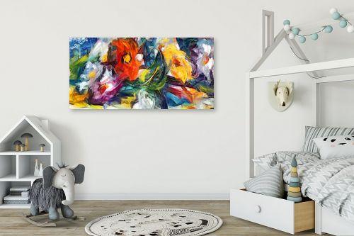תמונה לחדר ילדים - בן רוטמן - צר, ארוך וצבעוני - מק''ט: 156207