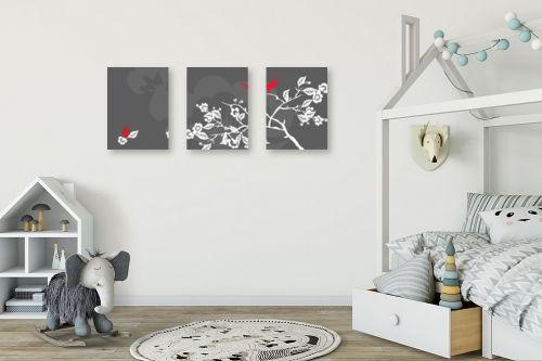 תמונה לחדר ילדים - נעמי עיצובים - ציפור אודם - מק''ט: 159899