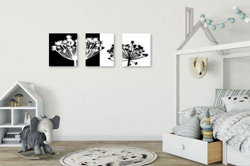 תמונה לחדר ילדים - נעמי עיצובים - סבא שחור לבן - מק''ט: 160695
