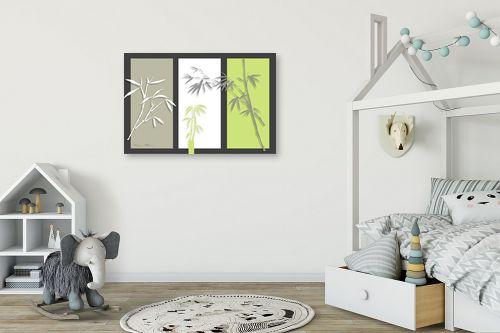 תמונה לחדר ילדים - נעמי עיצובים - במבוק על אפור - מק''ט: 160920