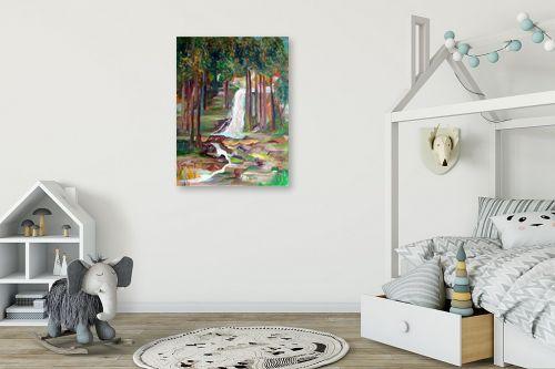 תמונה לחדר ילדים - רינה יניב - מפל המים - מק''ט: 163883