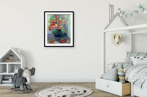 תמונה לחדר ילדים - רינה יניב - סידור פרחים - מק''ט: 169768