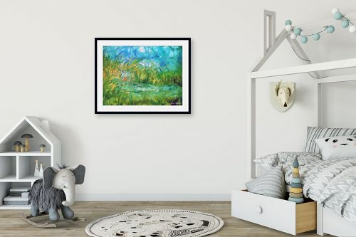 תמונה לחדר ילדים - בן רוטמן - ירוק ועוד ירוק,,, - מק''ט: 170895