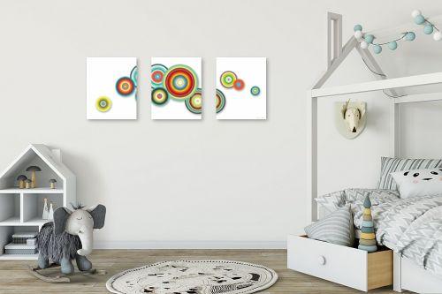 תמונה לחדר ילדים - נעמי עיצובים - עיגולים שמחים - מק''ט: 188858