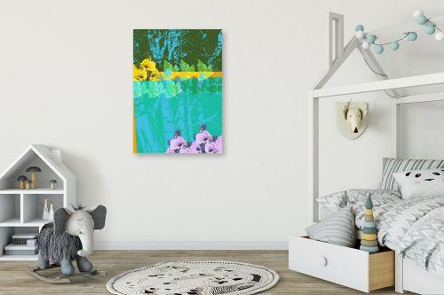 תמונה לחדר ילדים - רוזה לשצ'ינסקי - עלים ופרחים - מק''ט: 203780