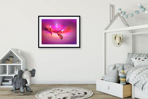 תמונה לחדר ילדים - ויקטוריה רייגירה - אהבה בסגול - מק''ט: 208460