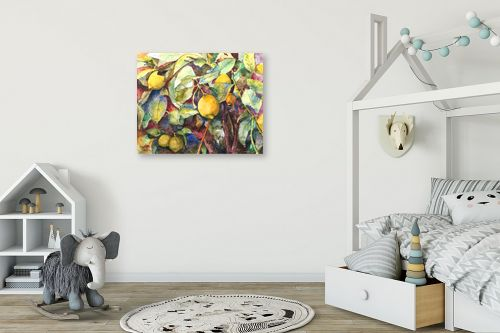 תמונה לחדר ילדים - חיה וייט - לימונים בכחול - מק''ט: 213206