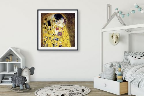 תמונה לחדר ילדים - גוסטב קלימט - הנשיקה KISS - מק''ט: 226235