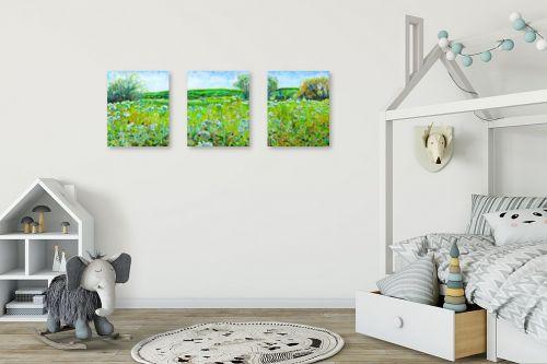 תמונה לחדר ילדים - חיה וייט - עמק ירוק - מק''ט: 235367