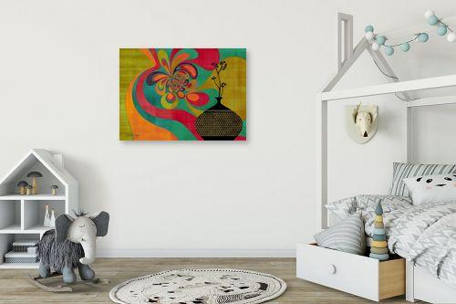 תמונה לחדר ילדים - בתיה שגיא - RETRO ART - מק''ט: 239444